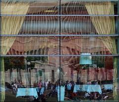 People in the restaurant (Logris) Tags: restaurant reflection reflections spiegelungen spiegelung fantasy fantasie abstrakt abstract