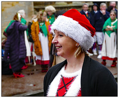 Farewell to Christmas (donbyatt) Tags: stonystratford stonylights2018 christmas hats morris dancers candid festive stonysteppers face