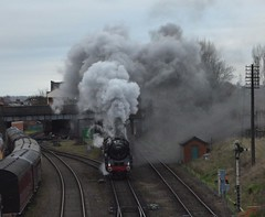 """Oliver Cromwell"" bows out.... (lewispix) Tags: 70013 britannia pacific 462 steam railway gcr"