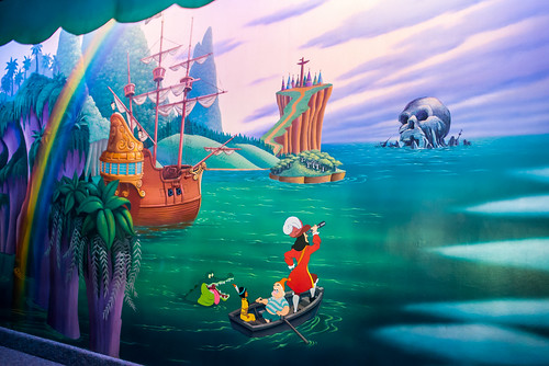 Mural - Peter Pan's Flight - Disneyland