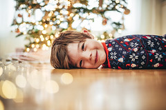 We are still in the holiday spirit over here! (Elizabeth Sallee Bauer) Tags: christmas christmastree boy child childhood children christmaslights family festive fun happiness holiday kid playing portrait qualitytime seasonal tradition tree youth