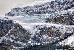 Crowfoot Glacier as seen from the Icefields Parkway, Alberta, Canada (PhotosToArtByMike) Tags: crowfootglacier icefieldsparkway banffnationalpark canadianrockies banff albertacanada mountain mountains alberta