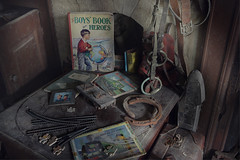 Childhood (andre govia.) Tags: abandoned andregovia childhood toy toys book comic decay decayed derelict decayedbuildings
