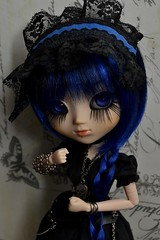 Portrait Series~ 3 (MlleChantilly) Tags: pullip doll dolls dollphotography dollsphotography custo groove junplanning bluehair blueeyes gothic metal veritas