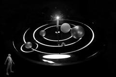 the fifth dimension (heinzkren) Tags: orbit umlaufbahn stars moon sun astronomy museum schwarzweis blackandwhite bw sw monochrome dream composing abstract surreal linz london model astronomie experiment fantasy magical mystery panasonic lumix symbol universe