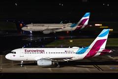 OE-LYU Eurowings Europe Airbus A319-132 (buchroeder.paul) Tags: dus eddl dusseldorf international airport germany europe ground night oelyu eurowings airbus a319132