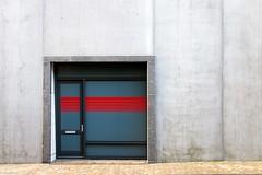 red.lines (fhenkemeyer) Tags: concrete facade door netherlands denhaag scheveningen minimalistic abstract lines red