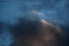 Croissant perché (bertrand kulik) Tags: lune ciel cloud nuage croissant nature astronomy astronomie