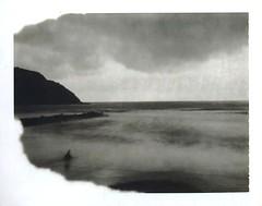 She, from the abyss (www.matteovarsi.com) Tags: pinhole pinholecamera polaroid664expiredfilm expiredfilm nature seaside seashore sea beach sand girl waves foam wind