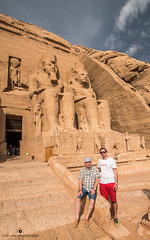 Us at Abu Simbel temple (tomaszbaranowski007) Tags: nikond5500 holidays travel abusimbel people