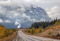 Canada 1A looking west towards the Rocky Mountains near Ghost Lake in Alberta Canada (PhotosToArtByMike) Tags: albertaprovincialhighwayno1a alberta bowriver ghostlake canada1a rockymountains cochrane canadianrockies calgary albertacanada mountain mountains