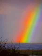 Rainbow over the Irish Sea (billnbenj) Tags: barrow cumbria walneyisland biggarbank rainbow spectrum irishsea