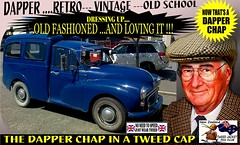 Dapper Chap In A Tweed Cap 2019  Part 5 (Save The Last Ocean) Tags: vintagecarclub vintagecar oldschool retro man fashion poster sign outdoor distinguished gentlemans cap tweed wearing car nz kiwi older oldman granpa classic auto vehicles cavalrytwilltrousers rally show club menswear scottish houndstooth uk british woven yorkshire 2019 nokia headlight art blazer plaid auckland hamilton rotorua tauranga gisbourne napier hastings wellington nelson christchurch dunedin invercargill city tweedcap tweedjacket citycouncil newplymouth whanganui wanganui rockandhop parked road street tweedjacketphotos morrisminor van truck 1971 1200cc sedan saloon manwearingtweedjacket menstweedjacket ride run