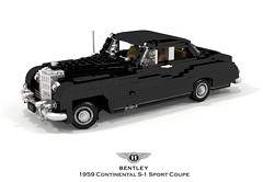 Bentley 1959 S-1 Continental Sport Coupe (lego911) Tags: bentley s1 continental sport coupe 1959 1950s classic park ward coachbuilt uk gb british luxury auto car moc model miniland lego lego911 ldd render cad povray afol foitsop
