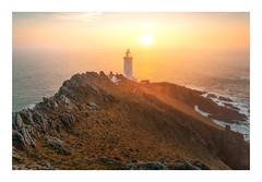 Sunny Start (Rich Walker Photography) Tags: devon landscape landscapes landscapephotography lighthouse sunrise coast coastline coastal sea seascape seascapes ocean water rocks canon england efs1585mmisusm eos eos80d