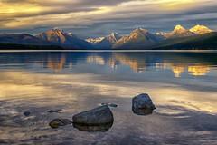Quietude (Phil's Pixels) Tags: reflections lakemcdonald mcdonaldlake apgar glacier glaciernationalpark montana sunset sundown evening dusk daysend