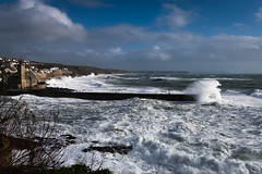 Freya at Porthleven (mqmquilter) Tags: coast coasts cornwall freya porthleven seascapes stormwatch waves