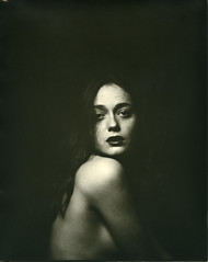 L. (denzzz) Tags: portrait ilford directpositivepaper harman largeformat 8x10 caffenol woodymanproject nikkorw 300mm analogphotography filmphotography portraitphotography