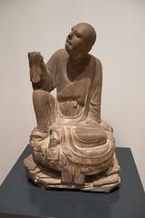 Chinese Louhan monk contemplation (quinet) Tags: 2017 antik asia canada ontario rom royalontariomuseum toronto ancien antique