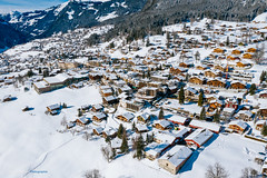 Somewhere In Switzerland ... (Sam' place) Tags: 2019 drone snow alps mountain city