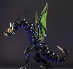 Tarākuna - 2 (Gamma-Raay) Tags: dragon wing bionicle purple green scales fly lego moc ccbs creature