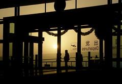 Christmas Flight Home 2008 (Wolfgang Bazer) Tags: airport flughafen hefei anhui china sunrise sonnenaufgang christmas eve heiligabend weihnachten weihnachtsheimflug heimflug flight home