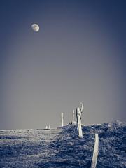 (philippe baumgart) Tags: alsace petitballon elsass mountains montagne landscape paysage noiretblanc blackandwhite nature valléedemunster sky moon lune
