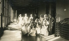 Nurses and Doctor at Royal Victoria Hospital, Netley, England - 1917 (Aussie~mobs) Tags: ward hospital doctor army military nurses wounded soldiers ww1 england netley 1917 royalvictoriahospital staff beds sisters