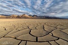 _6HB81 (Hilary Bralove) Tags: landscape nikon sunset deathvalley mudflats mudcracks california deathvalleynationalpark