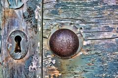 No Entry (Michelle O'Connell Photography) Tags: derelictdoor doorhandle doorknob lock door abandoned doorlock greendoor decay decaying scotland paintcrust michelleoconnellphotography
