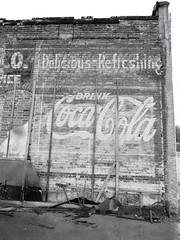 2019 02 22 Neosho - DSCN7128 (Modern Architect) Tags: neosho smalltown blackandwhite blackwhite coke sign cocacola missouri joplinmophotographer neoshomissouri