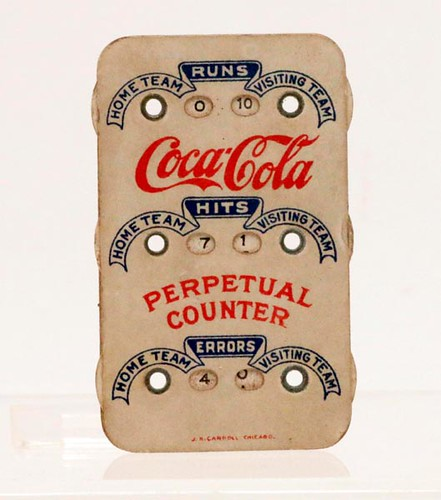 "1910's Coca Cola ""Relives Fatigue"" baseball perpetual counter ($61.60)"