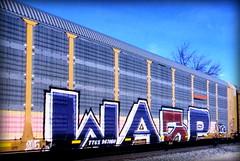 (timetomakethepasta) Tags: wasp mfk freight train graffiti art bnsf autorack