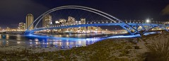 Calgary New Year Panorama (John Andersen (JPAndersen images)) Tags: bowriver bridge calgary city night panorama