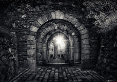 Triple Archway to Muckross Abbey #3 (Matt Anderson Photography) Tags: abbeymonastery archarchitecturalfeature architecture buildingexterior builtstructure castle cemetery christianity church cloudsky colorimage countykerry courtyard day death europe flower history horizontal house ireland killarneyireland killarneynationalparkireland loughleane monastery nopeople old oldruin outdoors overgrown panoramic photography plant religion religiouscross religioussymbol republicofireland sky spirituality tower tranquilscene traveldestinations tree weather druidism yew ancient england summer archway red green sunstar sunburst idyllic beautyinnature canopy patterns celtic gaelic