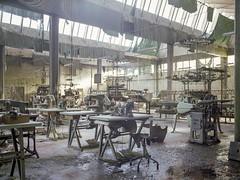 Textile factory (soho42) Tags: mamiya645protl fujireala100 abandoned decay textilefactory spinningmill urbanexploration urbex analog industry