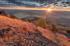 Steptoe Butte Sunrise (Duncan Rawlinson - Duncan.co) Tags: 1bsjq79t6an8rlt4rmczawgktvr7bdtwko 5dsr america butte canon canoneos5dsr duncanrawlinson duncanrawlinsonphoto duncanrawlinsonphotography duncanco landscape park photobyduncanrawlinson shotwithcanoneos5dsr steptoebuttestatepark steptoebuttesunrise summertrip2018 sunstar sunrise usa agriculture barley barn beautiful clouds color colorful colour crop eastern farm farming farmland fertile field fields grain grass hill httpsduncanco httpsduncancosteptoebuttesunrise httpsblockchaininfotx1829108f536e4453855b0a271d232d505f48d land nature nobody northwest organge outdoor pacificnorthwest painterly palouse pattern people pink red rock rolling rural scene scenery scenic sky state steptoe sun sunset view vista warm washington wheat