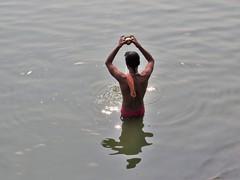 varanasi 2017 (gerben more) Tags: man varanasi benares water ganges ganga offering ritual india