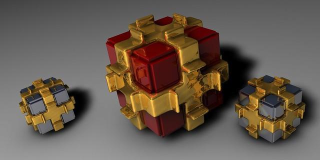 Обои кубы, форма, свет картинки на рабочий стол, фото скачать бесплатно
