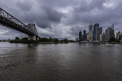 stormy brisbane (Greg M Rohan) Tags: queensland brisbane australia storybridge bridge architecture building buildings skyscraper skyscrapers skyline cityscape brisbanecity city stormy storm clouds sky brisbaneriver river water d750 2018 nikon nikkor