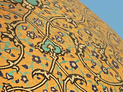 Close up of famous mosque dome - Sheikh Lotfollah, Isfahan, Iran (German Vogel) Tags: islamicart islam floralpattern design pattern background bookcover muslimculture middleeastculture culturalheritage asia westasia middleeast iran islamicrepublicofiran islamicrepublic muslimworld middleeasternculture travel tourism traveldestinations touristattractions isfahan isfahanprovince architecture dome sheikhlotfollahmosque sheikhlotfollah mosque materpiece iranianarchitecture persianarchitecture art decoration mosaic brick coloring detail zoomin closeup unescoworldheritagesite worldheritage