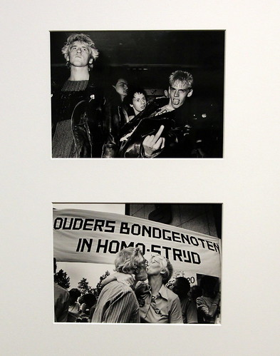 young punks at squat and demonstration for gay rights