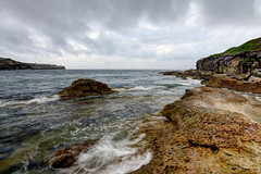 From perturbed... (JustAddVignette) Tags: australia cloudy cloudysunrise drizzle headland landscapes malabar newsouthwales ocean overcast rain rocks seascape seawater sky southeasternsuburbs sydney water waves