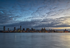 River Mersey Sunrise (gmorriswk) Tags: merseyside england unitedkingdom gb river mersey seacombe three grace liver cunard customs building architecture long exposure sunrise formatt hitech firecrest liverpool cityscape landscape museum