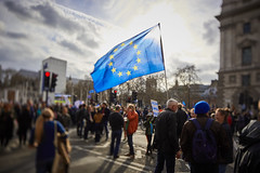 People's Vote March (aurélien.) Tags: eos5dmarkiv canoneos5dmarkiv london peoplesvote brexit march protest parliamentsquare whitehall westminster eu europeanunion flag tse24mmf35lii canontse24mmf35lii tse tiltshift tilt shift