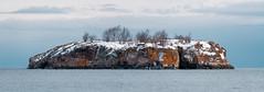 Black Beach Island - Silver Bay, Minnesota - North Shore (Tony Webster) Tags: blackbeach blackbeachpark minnesota northshore silverbay tonywebster morning panorama panoramic snow trees winter island