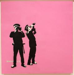 Banksy - Avon & Somerset Constabulary (Pink) (YoyoFreelance) Tags: avonsomersetconstabularypink constabulary avon somerset 塗鴉 塗鴉藝術 graffiti 班克斯 banksy pestcontrol 叛逆有理 theauthenticrebel authenticrebel 富藝斯拍賣行 phillipsauctioneerslimited phillips bellavita