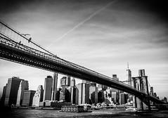 Brooklyn Bridge (broadswordcallingdannyboy) Tags: red mono bw city manhattan nyc ny newyork eos7d leonreillyphotography leonreilly copyright donotcopy mood atmosphere newyorkcity usa eastcoast americafuckyeah america bwcity light newyorkminute newyorkstateofmind newyorkmono nycinbw