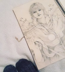 Old Drawing (Annie Illustration) Tags: drawing art graphite