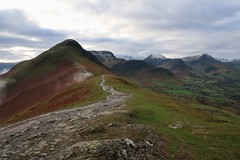 Ascent to Cat Bells peak. (alexandercarr) Tags: mountains fell snow peak lakedistrict lakes climb hike ascent